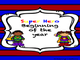 Super Hero Beginning of the Year Materials