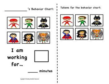 Super Hero Token Behavior Chart!