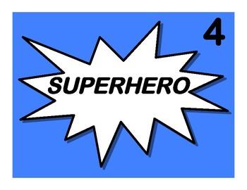 Super Hero Behavior Chart