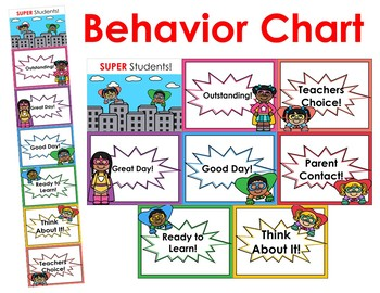 Super Hero Behavior Chart