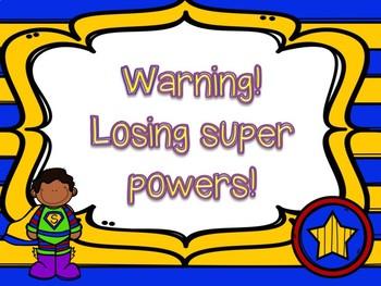 Super Hero Behavior Chart (Clipchart)