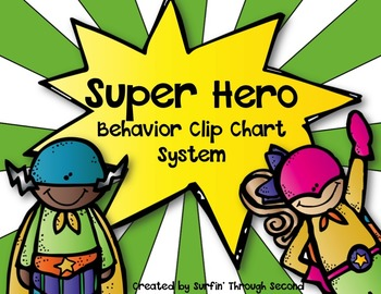 Super Hero Behavior Clip Chart System