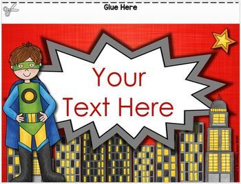 Super Hero Behavior Clip Chart with EDITABLE Pages