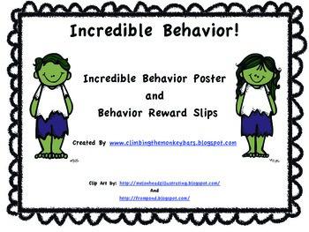 Super Hero Behavior! Incredible Slips