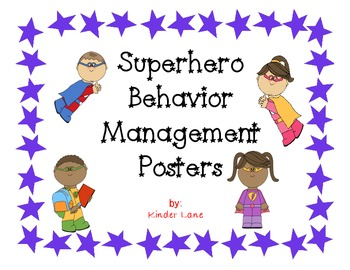 Superhero Behavior Management Clip Chart