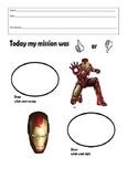 Super Hero Behavior Sheet- Iron Man- Think Sheet
