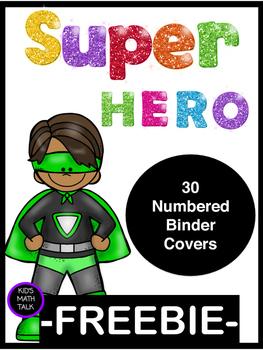 Super Hero Binder Covers