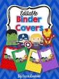 Super Hero Binder Covers & Spines *EDITABLE*