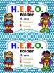 Super Hero Binder Labels