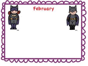 Super Hero Birthday Bulletin Board