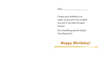 Super Hero Birthday Card - Boy