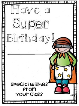 Super Hero Birthday Cards