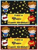 Super Hero Birthday cards