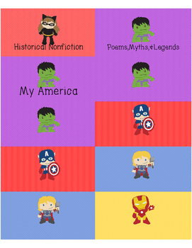 Super Hero Book Labels