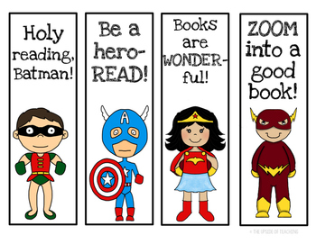 Bookmarks with a Superhero Theme!