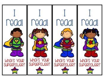 Superhero Bookmarks {FREEBIE!!!}