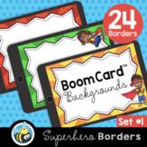 Super Hero Boom Card™ Background Borders (Clipart)