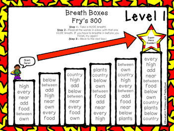 Super Hero Breath Boxes - Fry's 3rd 100 words