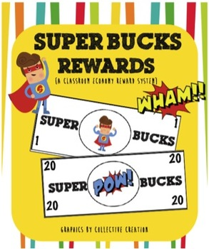 Super Hero Bucks Reward System {a classroom economy system}