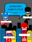 8 Different Boy Super Hero Nameplates
