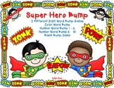 Super Hero Bump Games            Sight Words, Color Words,