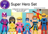 Super Hero CLIPART - Purple Studio
