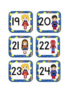 Super Hero Calendar Cover Ups