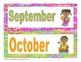 Super Hero Calendar Headings