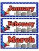 Super Hero Calendar Month Headings