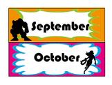 Super Hero Calendar Months