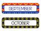 Super Hero Calendar - Months and Dates