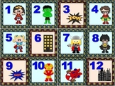 Super Hero Calendar Set version 2.