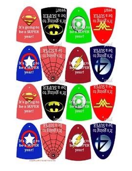 Super Hero Cape Tags