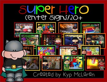 Super Hero Center Signs