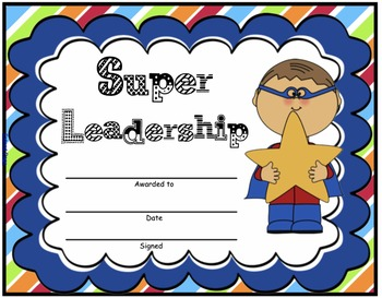 Super Hero Certificates - Editable with PowerPoint