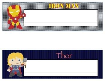 Super Hero Character Desk Name Plates