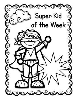 Super Hero Child of the Week Packet