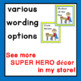 Super Hero Class Helper Job Cards for Chart or Bulletin Board