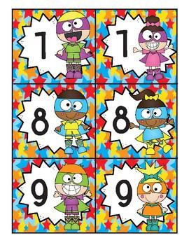 Super Hero Class Number Set 1-30