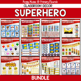 Super Hero Classroom Decor Mega Bundle