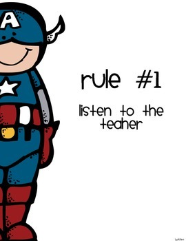 Super Hero Class Rules English
