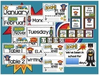 Superhero Classroom Bundle