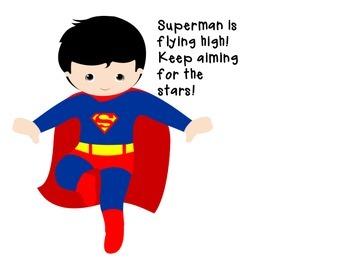 Super Hero Classroom Data Trackers