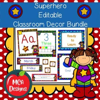 Super Hero Classroom Decor