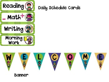 Super Hero Classroom Decor-Bright Colors