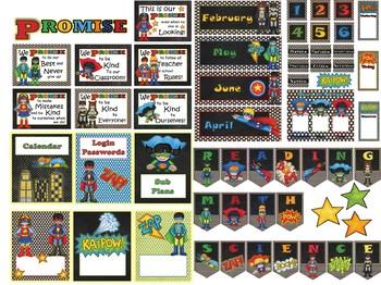 Super Hero Classroom Decor Bundle
