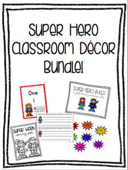 Super Hero Classroom Decor Bundle!- Editable