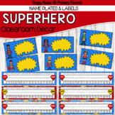 Super Hero Classroom Decor {Name Plates & Labels}