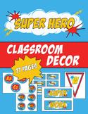Super Hero Classroom Decor, Comic Classroom Bundle
