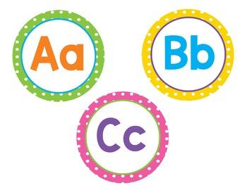 Brights and Polka Dots Decor, Classroom Bundle